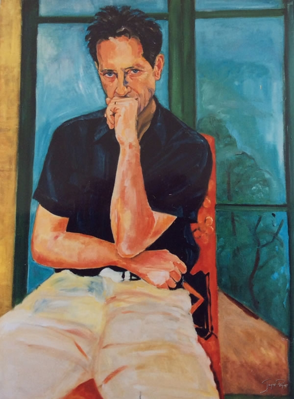 Portrait of Richard E Grant by contemporary British Artist Jayne Pope