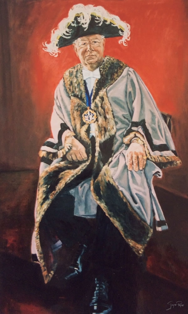 Portrait of Mr Patrick Burgess QC by Jayne Pope, contemporary British Artist