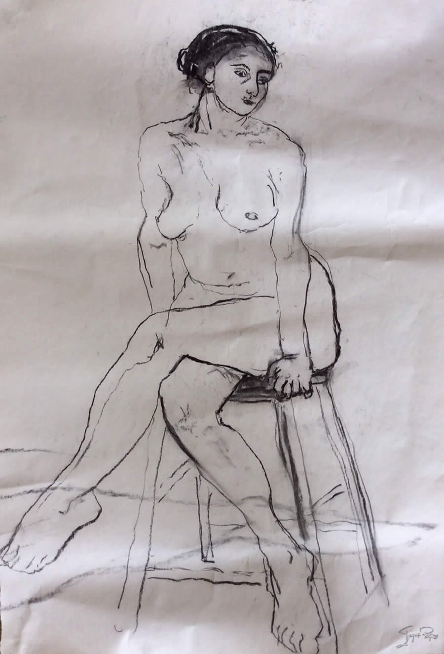 STill Life drawing by Jayne Pope contemporary British artist